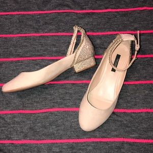Zara nude demi heels